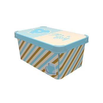 Tároló doboz Q  10L 23x34,5x16cm IT'S A BOY L
