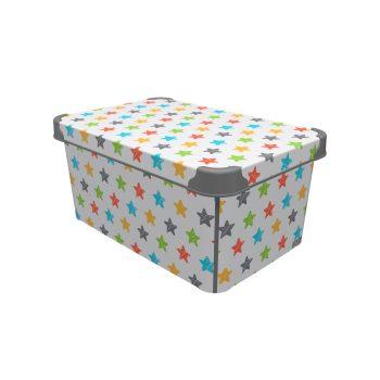 Tároló doboz Q  10L 23x34,5x16cm COLRED STARS L