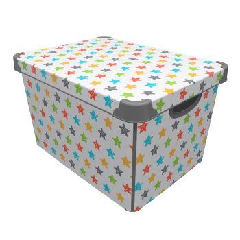 Tároló doboz Q  20L 24x30x41cm COLRED STARS XL