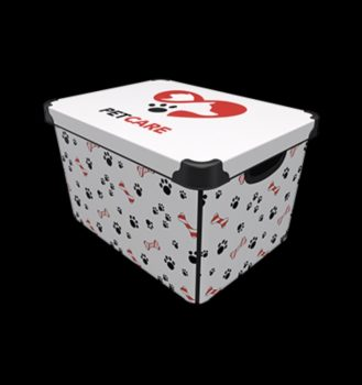 Tároló doboz Q  20L 24x30x41cm PETCARE XL