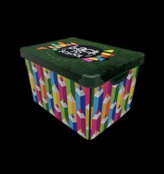 Tároló doboz Q  20L 24x30x41cm BACK TO SCHOOL XL