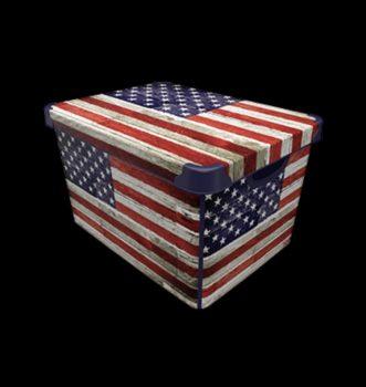 Tároló doboz Q  20L 24x30x41cm USA XL