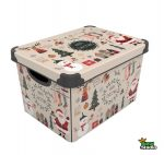 Tároló doboz Q 20L 24x30x41cm CHRISTMAS WHITE