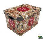 Tároló doboz Q 20L 24x30x41cm CHRISTMAS WOODLAND