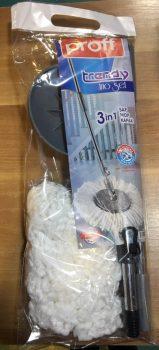 Padlófelmosó mikroszálas mop, kerek (nyéllel) 2601223
