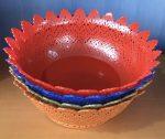 Gyümölcsös kosár 27x27x10,2cm Csipkés ST-082 KIF