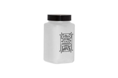 Fűszertartó üvegből 2,0L Szögletes Love-Fehér 147016-803