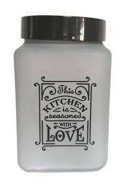 Fűszertartó üvegből 1,5L Szögletes Love-Füst 147015-802