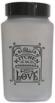 Fűszertartó üvegből 2,0L Szögletes Love-Füst 147016-802