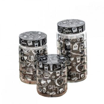 Fűszertartó szett üvegből 1/1,35/1,55L Dombornyomott 144204-000