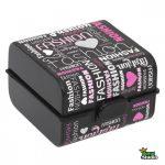 Uzsonnás doboz kétszintes evőeszközzel Fashion 161273-005