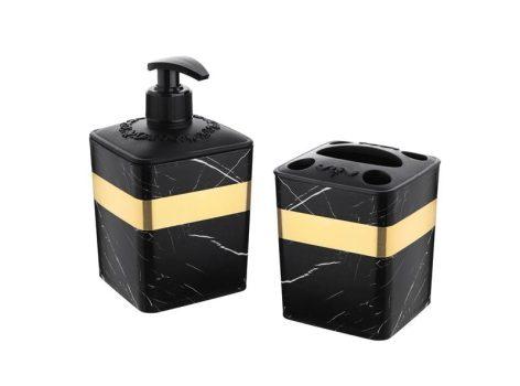 Fürdőszobai szett 2r. márványos 2x0,5L 427 KIF