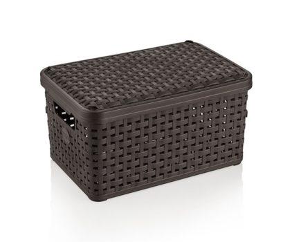 Tároló doboz RL tetővel Rattan 6,0L 28,4x19,3x12,7cm 9000