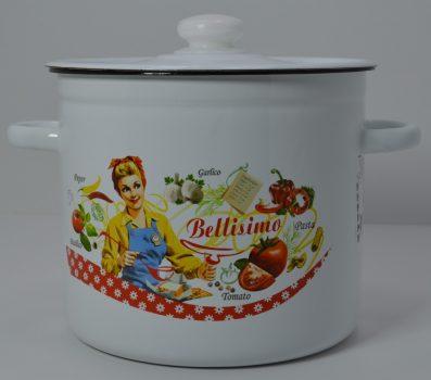 Zománcozott fazék fedővel Bellisimo Happy Cooking 7,0L RS-1270