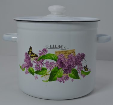 Zománcozott fazék fedővel Lilac Happy Cooking 7,0L RS-1271