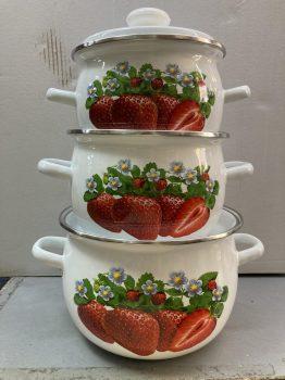 Zománcozott lábas fedővel Lilac Happy Cooking 2,5L RS-1291 KIF