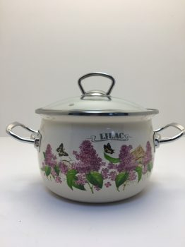 Zománcozott lábas fedővel Lilac Happy Cooking 3,5L RS-1292 KIF