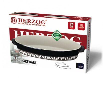 Sütőtál kerámia 31x19,2x5,0cm HERZOG HR-CBOV1