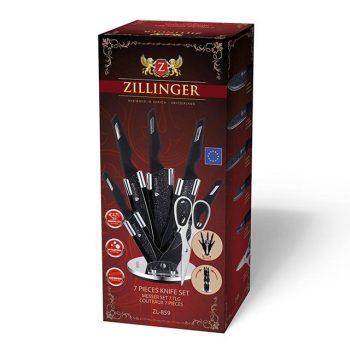 Kés készlet 7r. márvány bev. ZILLINGER ZL-859