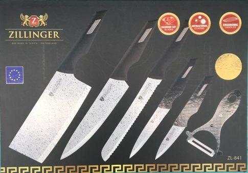 Kés készlet 6r. márvány bev. ZILLINGER ZL-841