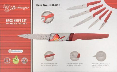 Kés készlet 6r. márvány bev. BACHMAYER BM-658