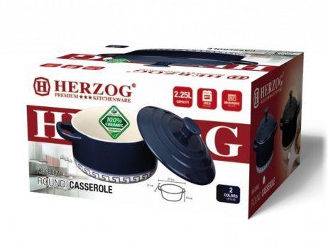 Lábas PH kerámia fedővel 2,25L 21x10cm HERZOG HR-CBR02