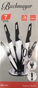 Kés készlet 7r. márvány bev. FEHÉR BACHMAYER BM-314